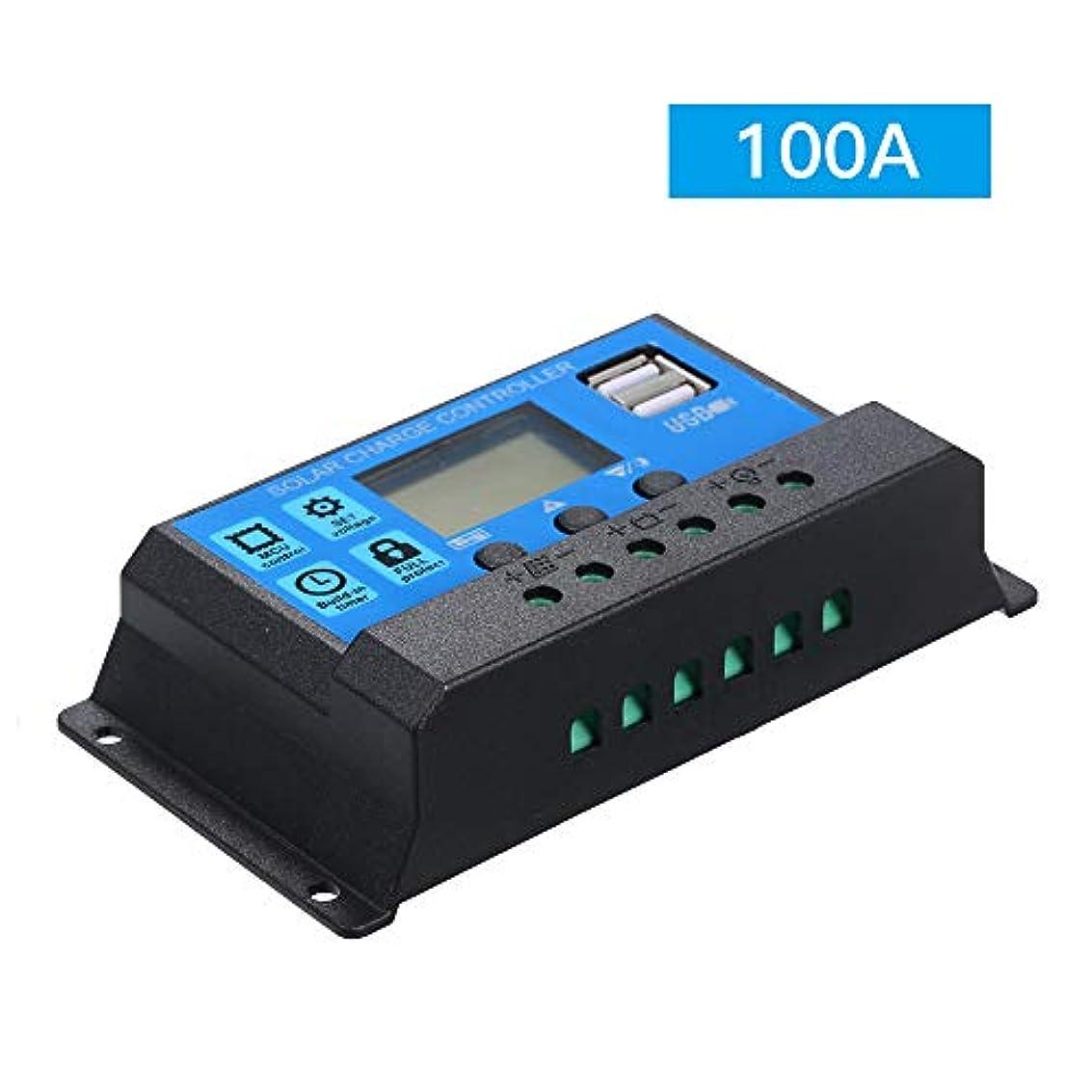 オーバーラン交換可能うぬぼれソーラーチャージャーコントローラー 10A 20A 30A 40A 50A 60A 100A 12V 24V チャージコント,ソーラーパネル レギュレータ 充放電コントローラー チャージコントローラー LCDスクリーンディスプレ ュアルUSB付き イ付き ソーラーシステム 充電器制御 電流ディスプレイ 自動調整スイッチ