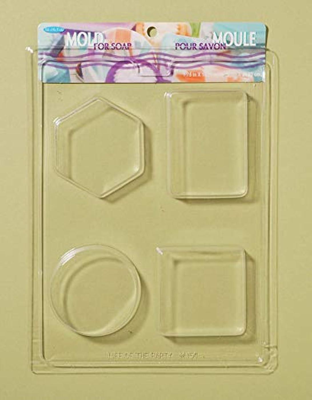 ルビー退屈させるどこSoap Bar Mold-4 Shapes (並行輸入品)