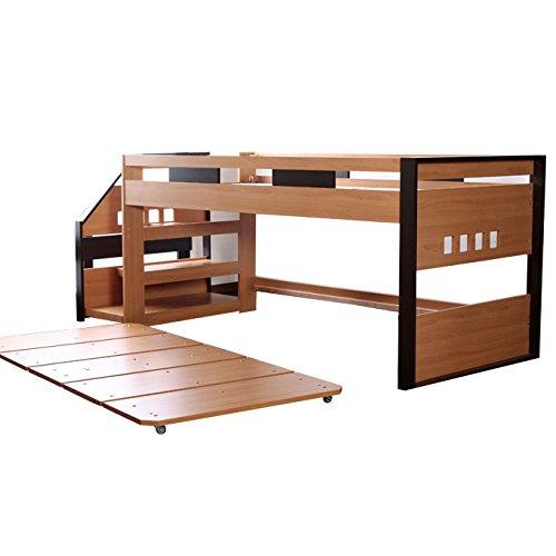 マルチベッド システムベッド 木製 ロフトベッド(ローベッド付)ツインベッド