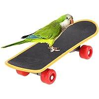 MIA-MOON オウム 立て インコ 鳥 ミニ スケートボード ペット用品 ストレス解消 おもちゃ