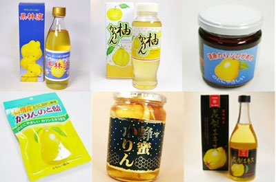 花梨 ギフトセット 合計6個 花梨液 ×1 柚子カリン ×1 花梨のど飴 水飴 ×1 かりん蜂蜜漬け ハチミツ花梨 ×1 花梨のどあめ ×1 花梨エキス×1