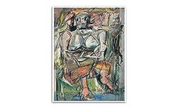 マットポスタープリントウォールアート 24x19 女I ウィレム・デ・クーニング作 最も高価な絵画