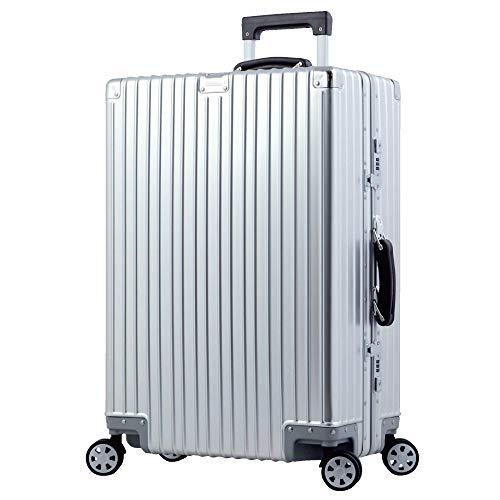 L型 シルバー/AL-8088 スーツケース アルミ合金 TSAロック搭載 Wキャスター 大型(5~10日用)