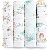 aden + anais Disney Classic Swaddle Baby Blanket, 100% Cotton Muslin, Large 47 X 47 inch, 4 Pack, Lion King