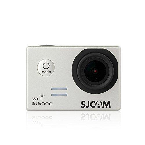 SJCAM社製 SJ5000 Wifi HDアクションカメラ スポーツカメラ Novatek 96655 SJCAMロゴ付き正規品 2.0インチディスプレイ WLANよりスマホから確認、制御可能 1080P高画質 防水 マリンスポーツやウインタースポーツに最適 バイクや自転車、カートや車に取り付け可能 HD動画 コンパクトカメラ シルバー