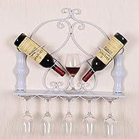 ワインラック、スタッカブルワインシェルフキャビネットシャンパンシェルフ収納ホームおよびキッチンインテリア壁掛け金属吊り2ワインボトル (Color : A)