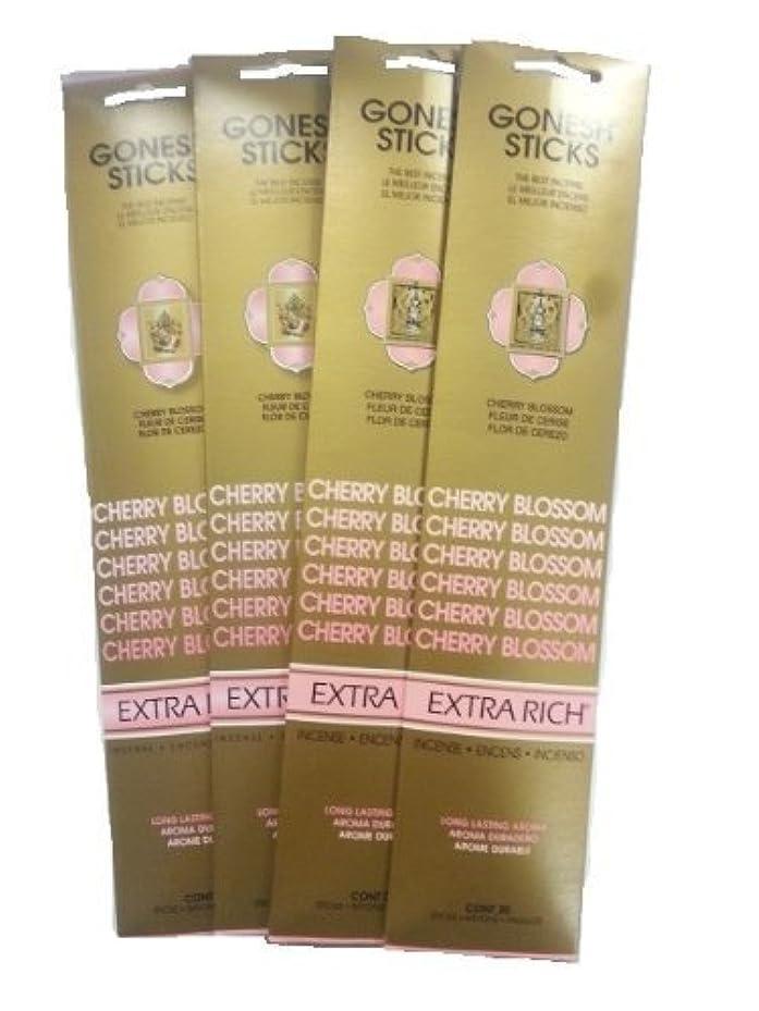 給料ダイジェスト複製するGonesh Incense Sticks – Cherry Blossom Lot of 4