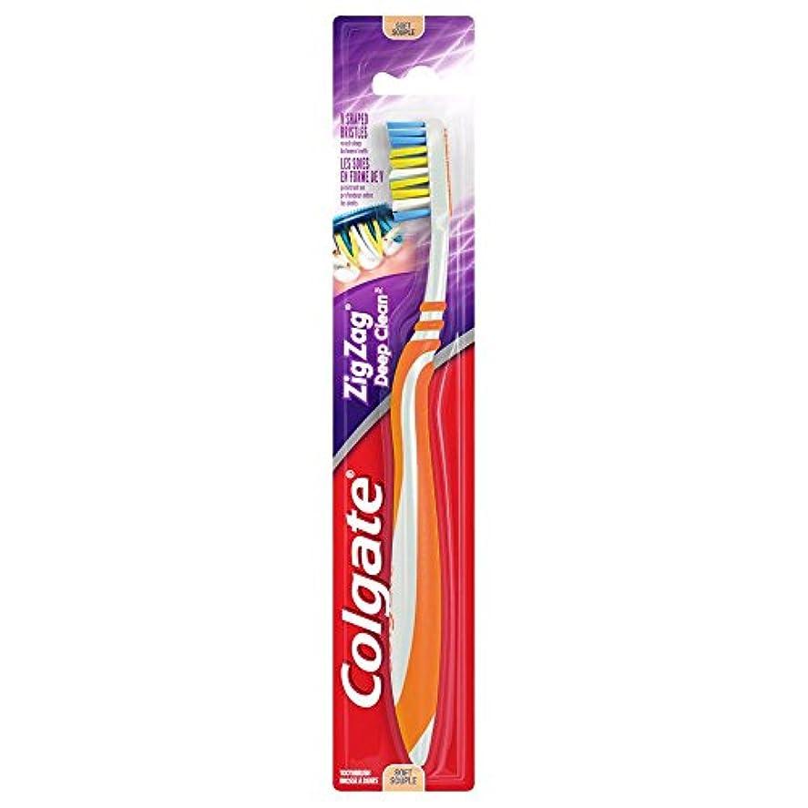 橋脚順応性オンColgate ジグザグディープクリーン歯ブラシ、ソフト - 6パック