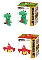 (Dinosaur Clays) - Zerbo Clay Modelling and Sculpting Set of 2 Dino Characters Air-Dry Clay Set