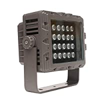 LEDフラッドライト、スポットライトスクエア防水屋外照明器具投影ライト、24W