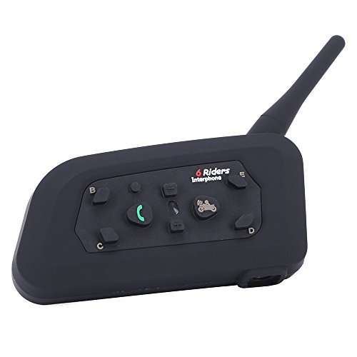 Excelvan バイク インカム 無線機 イヤホンマイク 約1200m通話可能 生活防水