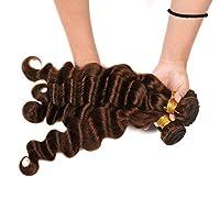 FidgetGear 50g /個ディープウェーブブラジルの髪の色4#カーリー織り人毛 16 16 16