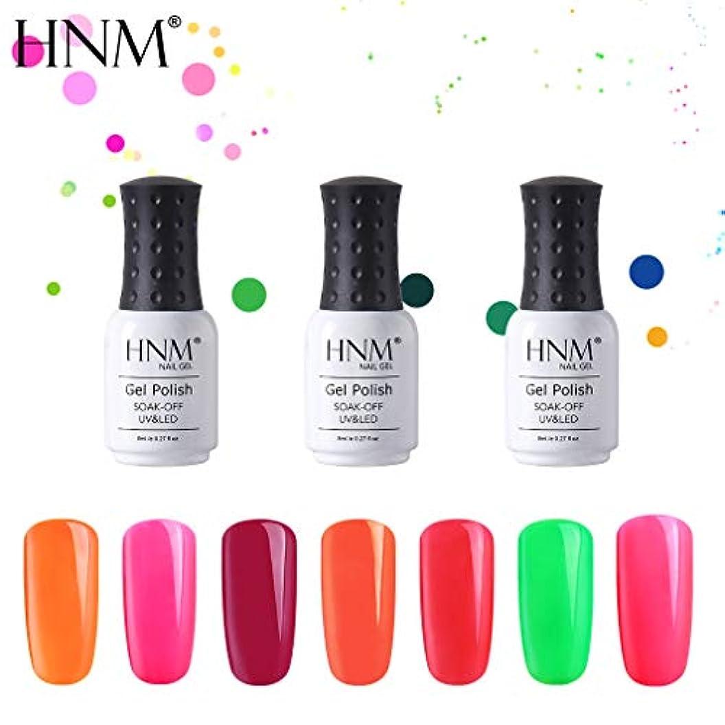 彼女はシンプトン上流のHNM ジェルネイル カラージェル 蛍光色カラージェル 全12色入り 8ml 【全12色選択可】