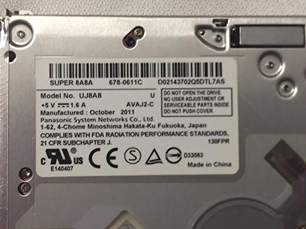 気怠いメダリストアサートgs41 N Superdrive 8 X Slot - In DVD ± RWスリムSATAドライブ9.5 MM DVDバーナードライブfor Apple MacBook MacBook Pro a1181 a1286 a1278 uj8 a8交換gs31 N uj868 a、uj898 a、ad-5970h
