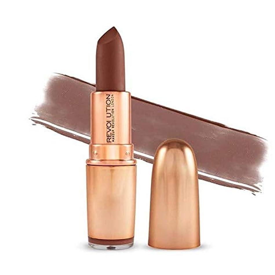 チャーターその結果賠償[Revolution ] 革命の象徴的なマットヌード口紅Inclanation - Revolution Iconic Matte Nude Lipstick Inclanation [並行輸入品]