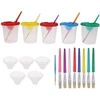 FLAMEER 知育玩具 絵の具 塗装カップ 着色ブラシ 約24個 プレゼント 子供の芸術創作 3種選ぶ アート用品 - グループ3