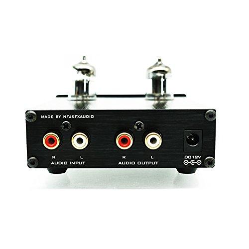 Dilvpoetry FX-Audio TUBE-03 真空管6J1プリアンプ HIFIオーディオアンプ 高低音調整 (ブラック)