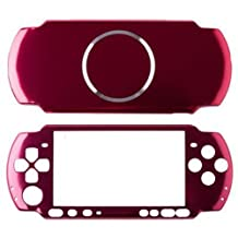 OSTENT Aluminum Hard Case Cover Shell Guard Protector Compatible for Sony PSP 3000 Slim Console Color Red