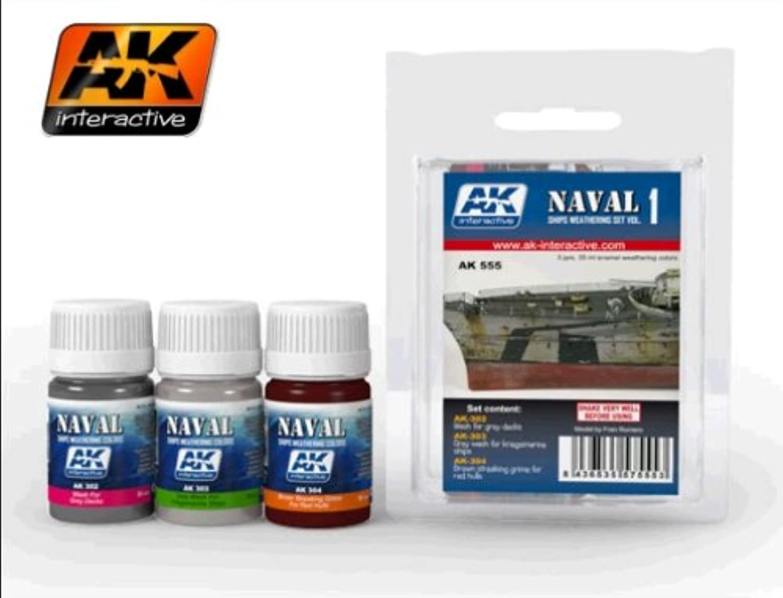 AK Interactive SHIPS WEATHERING SET VOL.1 AK 555