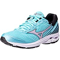 Mizuno Australia Women's Wave Rider 22 Running Shoes, Angel Blue/Lavender Frost/Black, 8.5 US