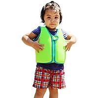 フローティングベスト 子供用 スイムベスト 強い浮力 高い負荷力 安全安心 マリンスポーツ ジュニア 海 プール 釣り 海水浴 スイミング 水遊び、グリーン