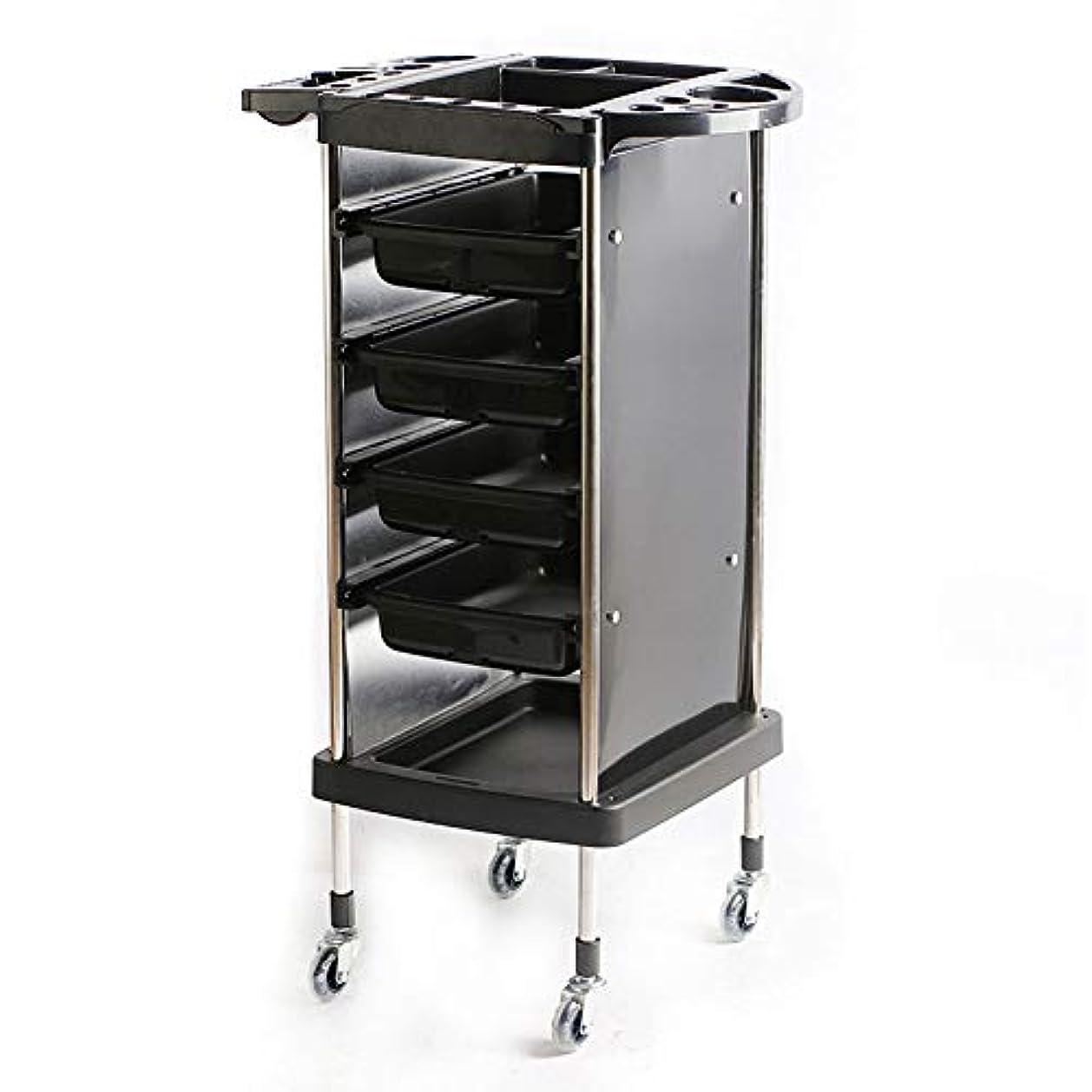 レトロサロン美容院トロリー理容美容収納ヘアローラーカートサロントレイ5引き出し引き出しは上の複数の収納穴です
