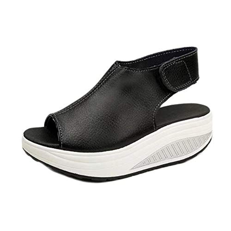 Wyntroy レディース シューズ レトロスタイル 日韓風 サンダル エレガント ハイヒール 厚底 のぞき見つま先の靴 おしゃれ スリッパ ウェッジシューズ 夏 サンダル ハイヒール スリッパ ストリートウェア 快適な サンダル