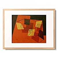 パウル・クレー Paul Klee 「Verspannte Flachen」 額装アート作品