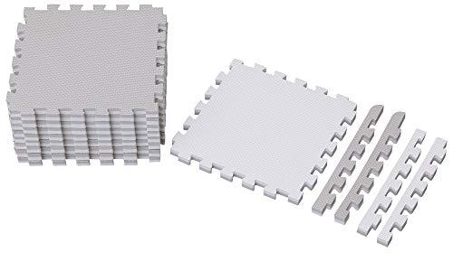 アイリスオーヤマ ジョイントマット グレー/ホワイト 1畳用 (18枚セット) 極厚1.8cm JMRN-318 18枚入