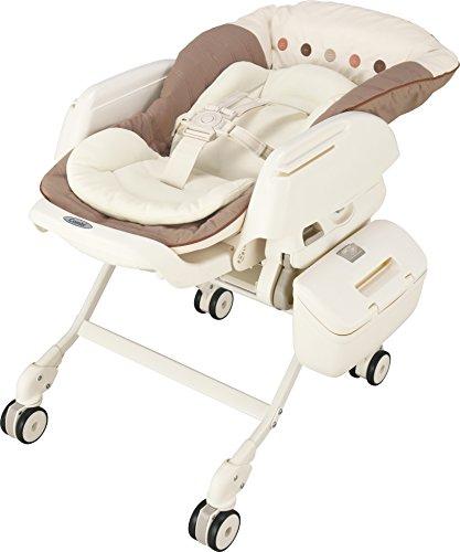 コンビ Combi ハイローベットチェアー ネムリラ AUTO SWING エッグショック BE ココアブラウン (新生児~4歳頃対象) サイレントスウィング機能搭載