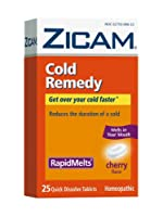 Zicam Cold Remedy RapidMelts, Cherry, 25 Quick Dissolve Tablets by Zicam