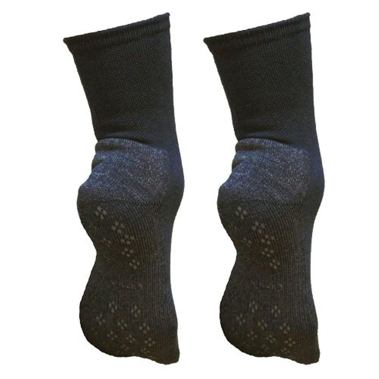 倉庫モットーコンサート銅繊維靴下「足もとはいつも青春」パイルタイプ2足セット 靴底のあたたかさ重視
