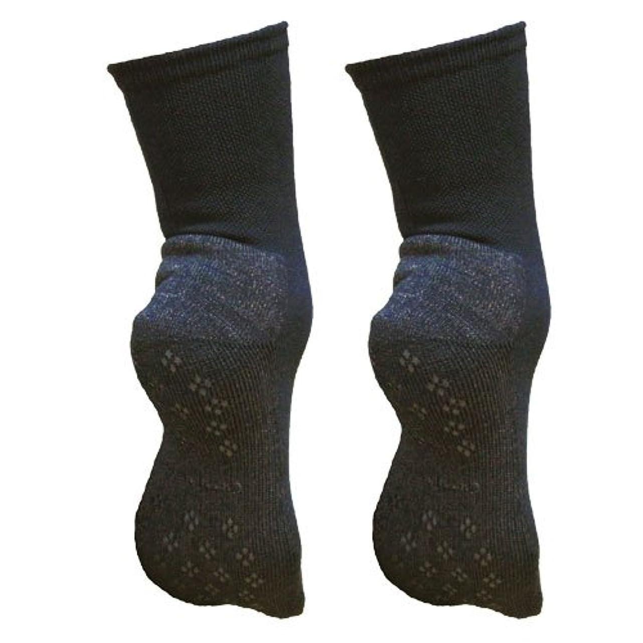 合理化津波夜明け銅繊維靴下「足もとはいつも青春」パイルタイプ2足セット 靴底のあたたかさ重視