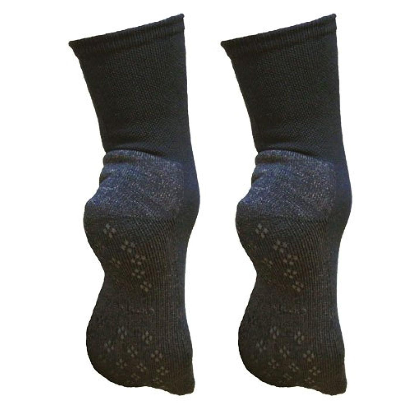 フォロー乱れ多数の銅繊維靴下「足もとはいつも青春」パイルタイプ2足セット 靴底のあたたかさ重視