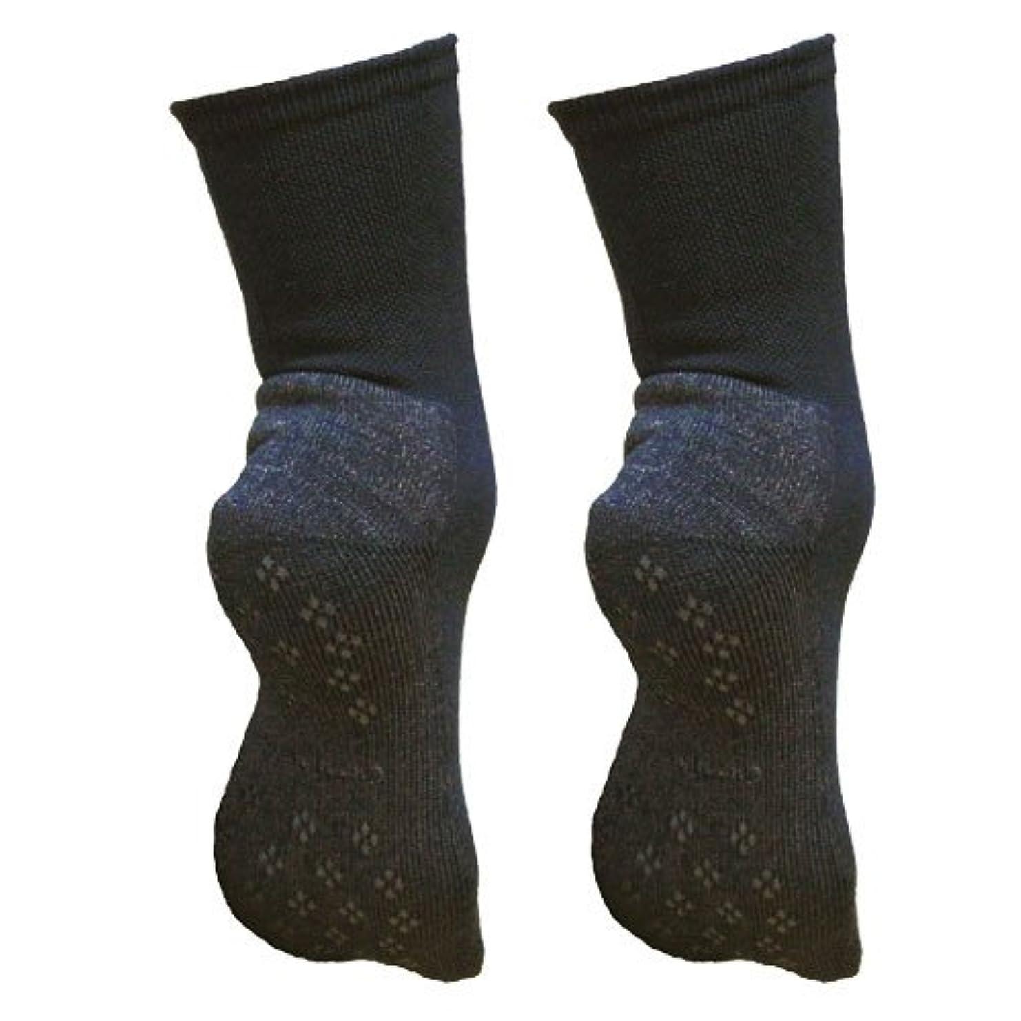 診療所信号球体銅繊維靴下「足もとはいつも青春」パイルタイプ2足セット 靴底のあたたかさ重視