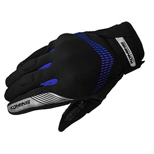 コミネ KOMINE バイク CE プロテクト メッシュ グローブ 通気性 Black/Blue L GK-228 06-228