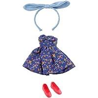 Lovoski 1/6ブライスBJD人形ドール対応 ちょう結び飾り ワンピース スカート ドレス レッドシューズ 人形服アクセサリー