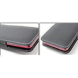 ミヤビックス PDAIR レザーケース for HTC J ISW13HT バーティカルポーチタイプ(ブラック) PALCISW13HTV/BL