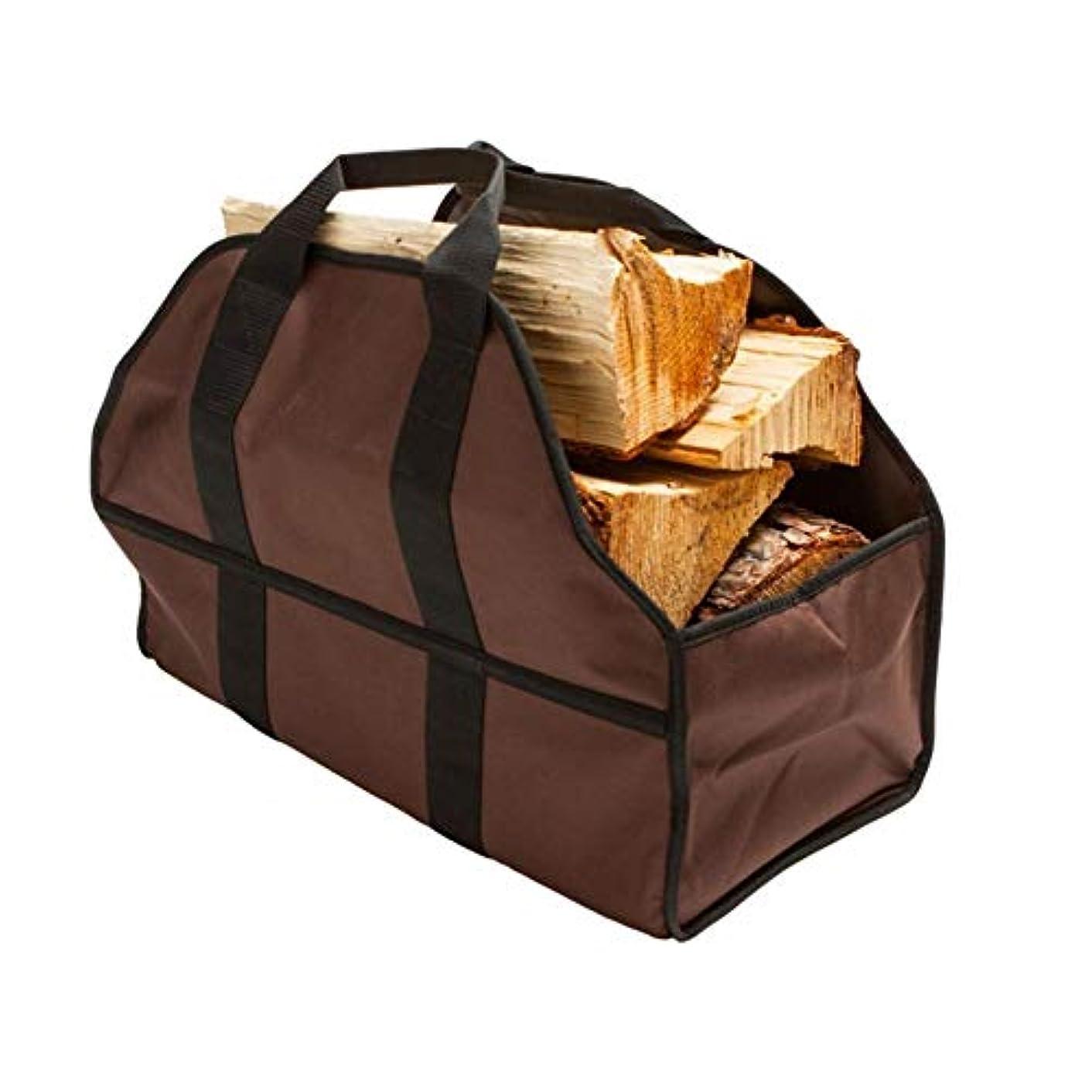 続ける過度にレジlacyie 大容量薪バッグ 薪ストーブ 防水キャンバス伐採袋 持ち運びが易い折りたたみできる携帯用薪貯蔵袋 ストレージクリーニング用品