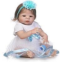 フルボディシリコンReborn Baby Look Real解剖学的に正しい幼児用ガール人形、23インチby NPK