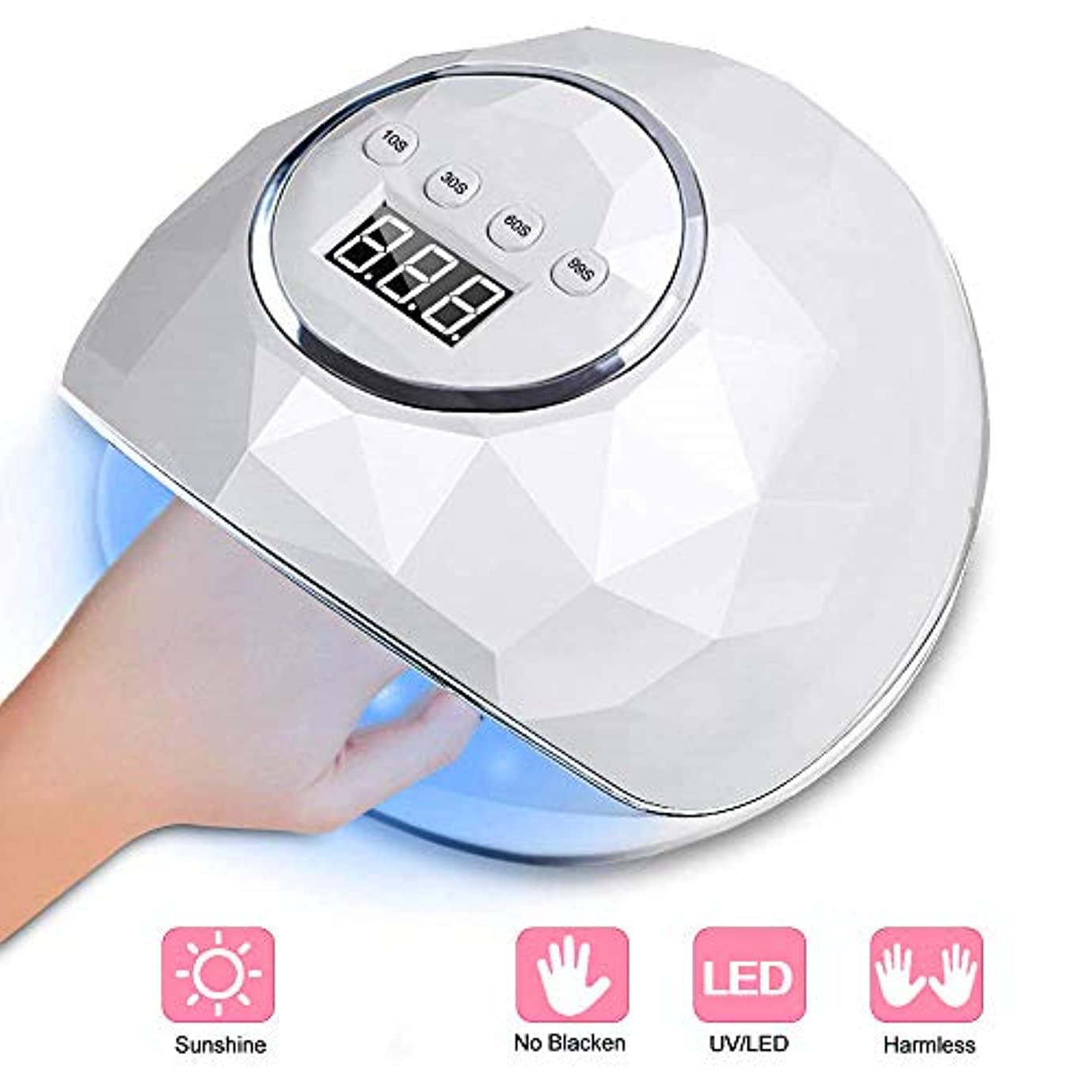 過半数寄付する先紫外線ジェルネイル光線療法ランプ72Wスマート誘導マニキュアランプマニキュアマシンでジェルネイルポリッシュキット