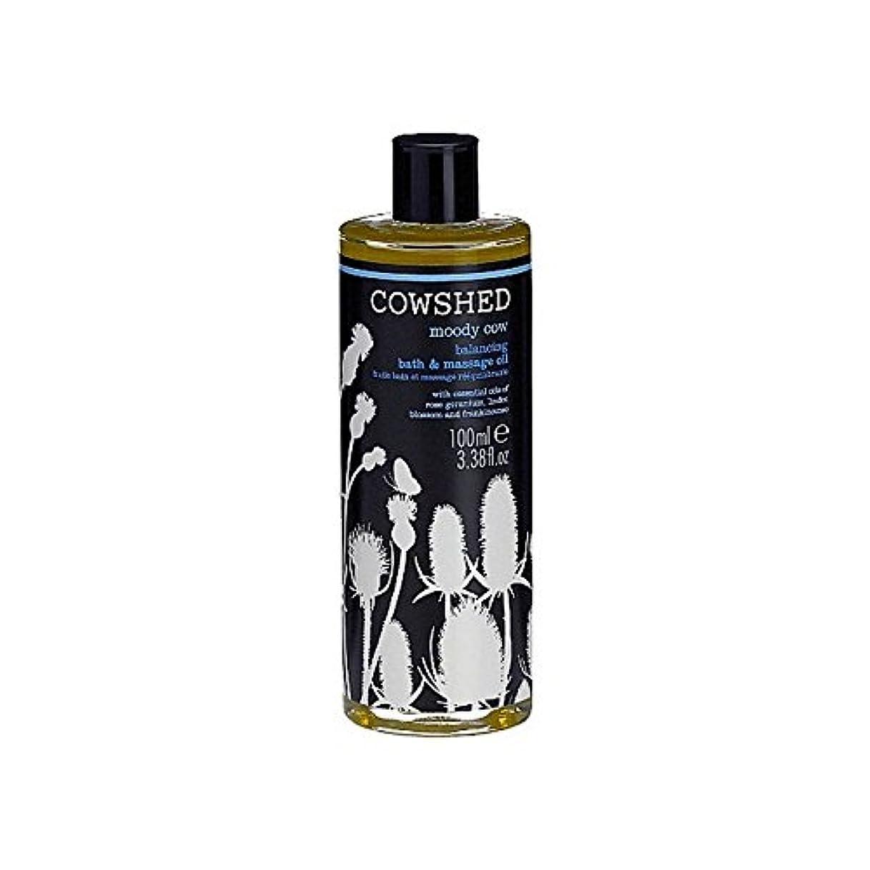 救援終わった洞察力Cowshed Moody Cow Balancing Bath And Body Oil 100ml (Pack of 6) - 牛舎ムーディー牛均衡バス、ボディオイル100ミリリットル x6 [並行輸入品]