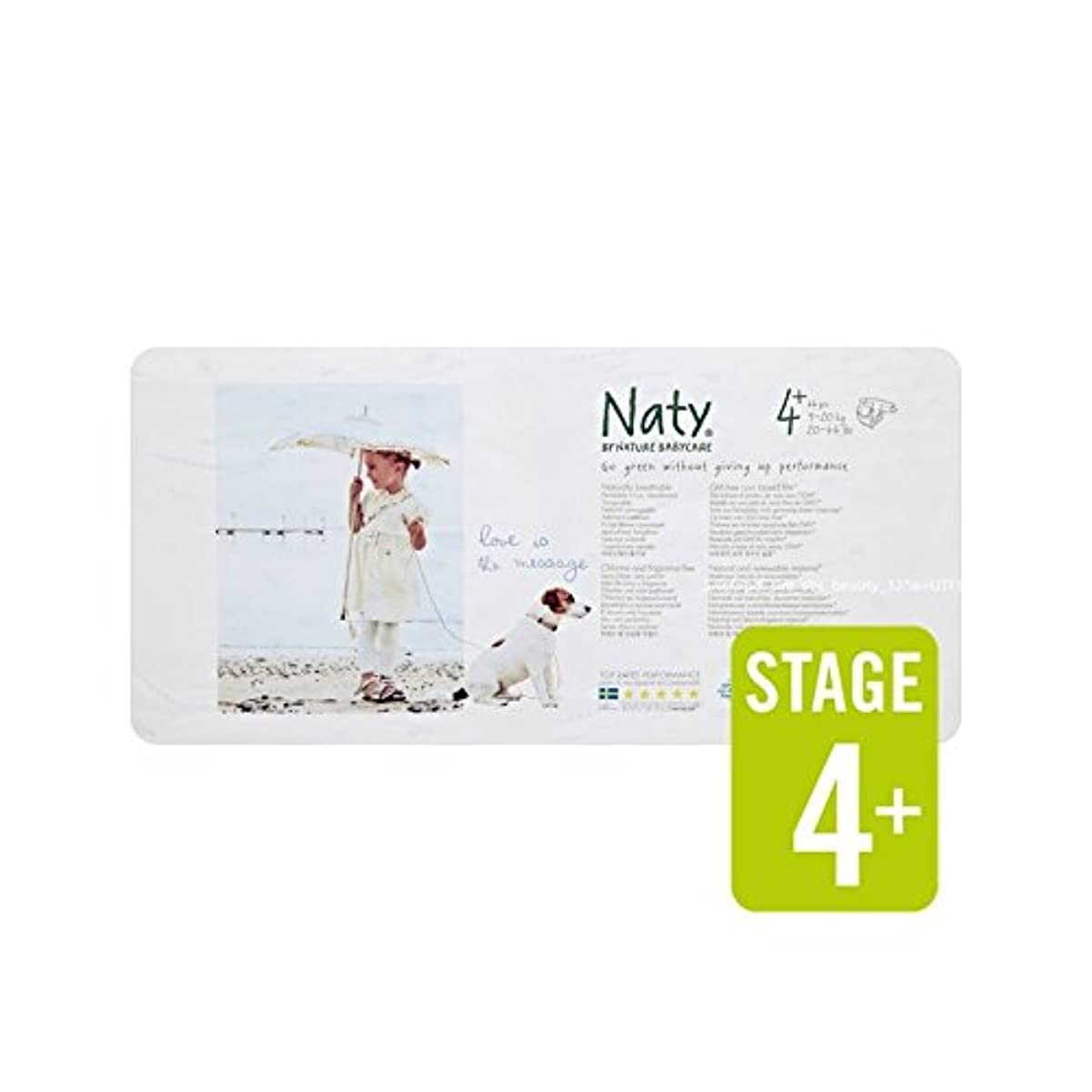 Natyサイズ4+パックあたり不可欠44 (Nature) (x 6) - Naty Size 4+ Essential 44 per pack (Pack of 6) [並行輸入品]