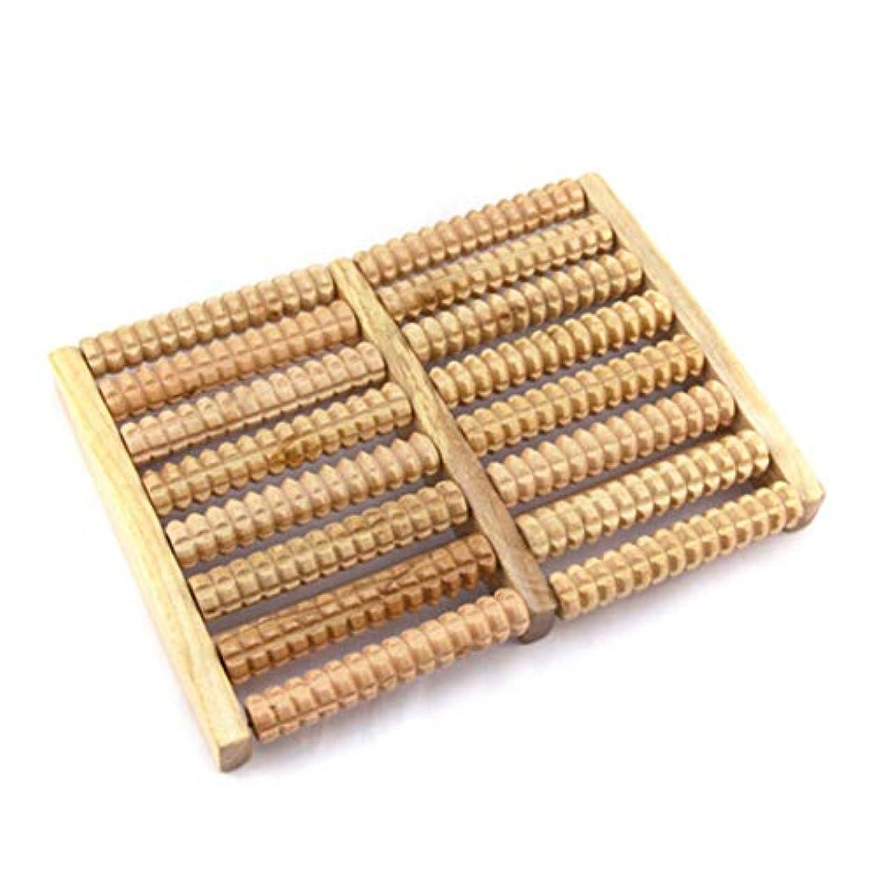 溶けたペスト土器Intercorey木製フットマッサージャー8行フットマッサージャー木製ストレス解消治療リラックスマッサージローラー