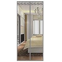 メッシュ磁気スクリーンドア,頑丈なガラス繊維のセルフシールのセルフシールが付いているフルフレームの磁石容易な開閉の設計即刻のペットおよび子供の友好的な網-120×210センチメートル(47×83インチ)-グレー