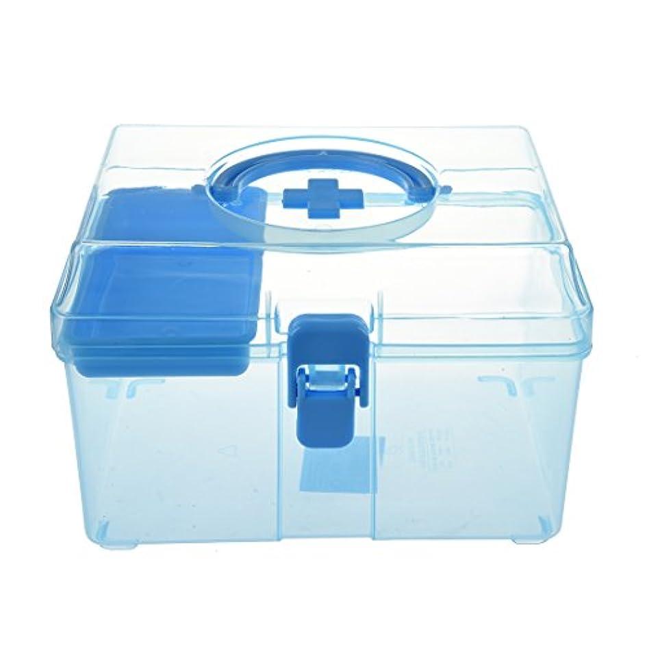 TOOGOO ランダムカラープラスチック 理想的な家族の健康ボックス 医学チェストピル ファミリー応急処置ボックス