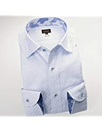 RSD696-004 (スタイルワークス) メンズ長袖ワイシャツ ワイドカラー チェック | 青