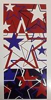 Patriotic American Star Beachバスプールタオルレッドホワイトブルー