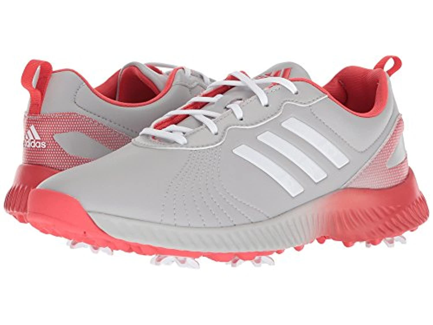 (アディダス) adidas レディースゴルフシューズ?靴 Response Bounce Grey Two/Footwear White/Real Coral 11 (28cm) M