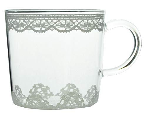 コージカンパニー マグカップ レースグラス 耐熱ガラス 日本製 340ml 541274